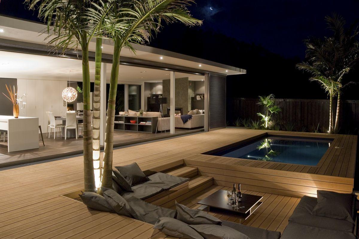 Fountain house neu architecture for Small garden designs nz